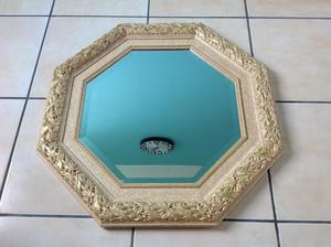 Large octagonal wall mirror