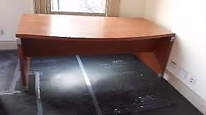 bow fronted managers office desk