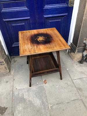 Rosewood and Inlaid Two Tier Side Table. In good condition, very good quality. Must be seen.
