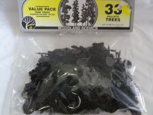 """Woodland Scenic TR Realistic Trees 2.5""""- 4"""" tall N HO"""