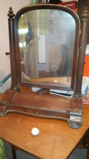 Victorian large dressing table mirror for restoration