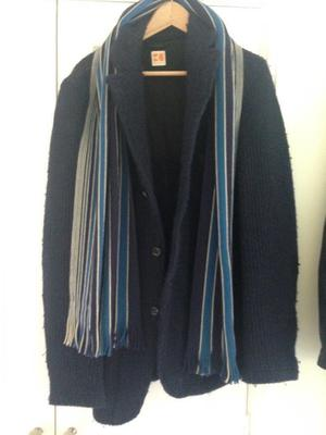 Hugo boss navy jacket/cardigan