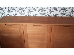 Solid oak sideboard with 3 cupboards in Exeter