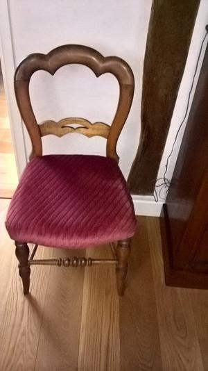 Antique Victorian living and dining room chairs