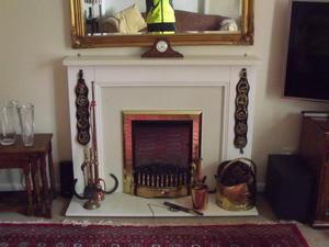 Fire Place and Dimplex Exbury Optiflame Electric Fire