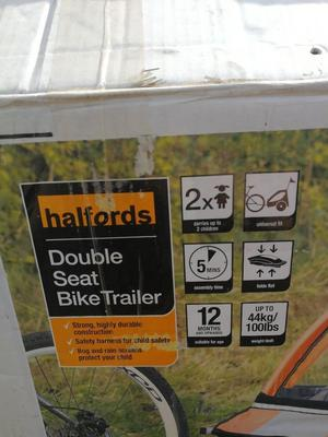 Double Seat bike trailer halfords Excellent condition. Collection from ealing broadway
