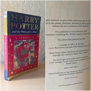 Harry Potter and the Philosopher's Stone, 1st Edition