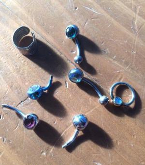 Job Lot of Belly Bars x6 in total & Ear Piece - All in Mint Condition £5 the lot