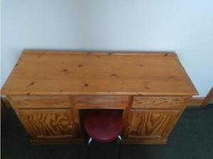 reduced - SOLID PINE DOUBLE PEDESTAL DRESSING TABLE in