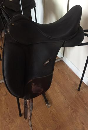 """17"""" Wintec Brown Isabell Werth Dressage saddle"""
