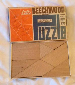 Vintage Lotts Beechwood Puzzle Series . Complete. Scribbles On Box.