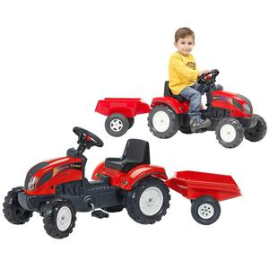 FALK Tractor with Trailer Red 2/5