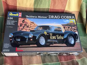 "Revell 1/24 ""Baldwin Motion"" Drag Cobra, fine kit."