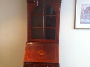 Set of 3 items, Bureaux with display cabinet, Hi Fi cabinet,