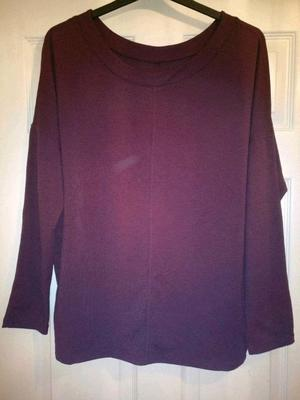 NEW Long sleeved plum coloured round neck top