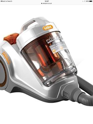 VAX POWER 6 CYLINDER HOOVER.LARGE 3LT WATT.AS NEW COND.