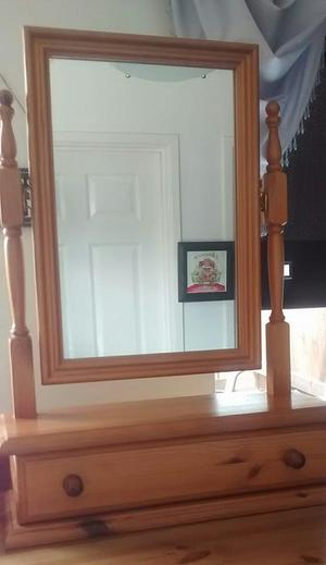 Lovely solid pine dressing table mirror