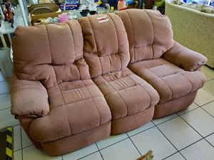 Recliner sofa with 2 armchairs