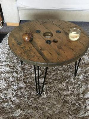 Rustic reel coffee table