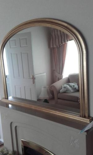 Very Large gold coloured mirror