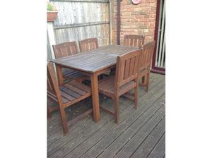 Wooden garden table & chairs set in Poole