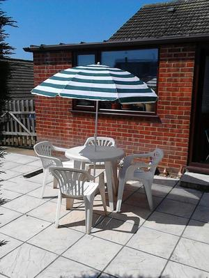 Garden Table,chairs and umbrella