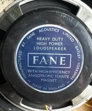 Pair of Fane Speakers in H&H cabinets with tweeter drivers.