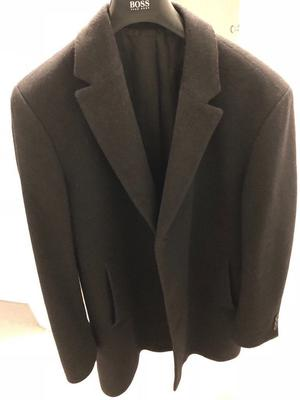 Hugo Boss Charcoal overcoat - cashmere