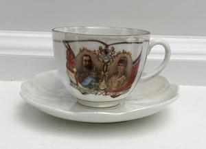 KING GEORGE V & QUEEN MARY CORONATION CUP & SAUCER