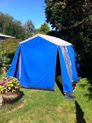 3 berth frame tent with new in box sleeping compartment