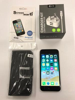 iPhone GB Unlocked Space grey with case