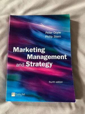 Marketing Management and Strategy textbook