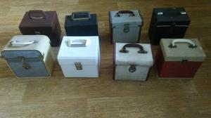 8 x vintage record cases for 7 inch singles
