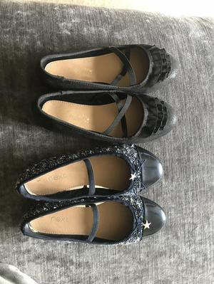 2 x Next girls size 1 ballet/ party shoes