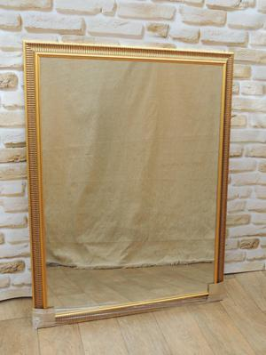 Ribbed Frame Overmantle Mirror (Delivery)