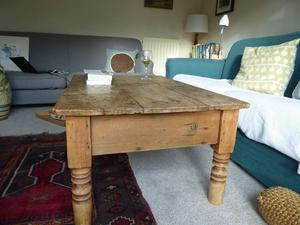 Rustic old pine coffee table