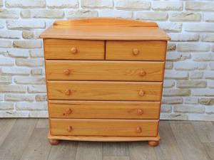 6 Drawer Traditional Chest on Bun feet (Delivery)