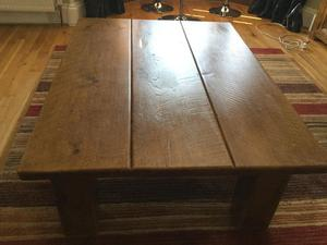 Beautiful solid wood plank coffee table