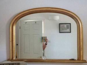 large wall mirror, gold frame
