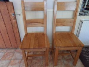 Set of 6 reclaimed solid oak Dining Chairs