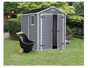 Keter Plastic Shed, 8x6, Grey Colour (includes plastic floor) Brand New in Box.
