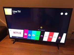 """LG 43"""" 4K ultra hd smart led hdr tv. Excellent condition £260 NO OFFERS. CAN DELIVER"""