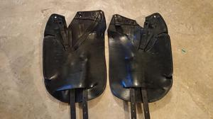 Wow saddle conventional dressage flaps black leather