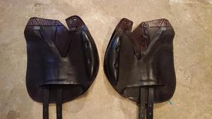 Wow saddle conventional jumping flaps. Brown.