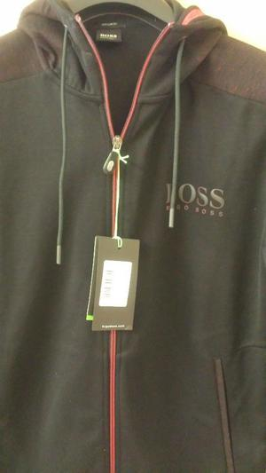mens Hugo Boss black zip up track suit top size large new with tags cost £169