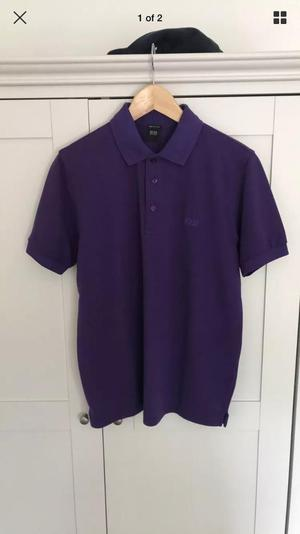 HUGO BOSS POLO SHIRT/PURPLE
