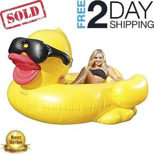 Giant Inflatable Rubber Derby Duck Swimming Pool Toys Ride
