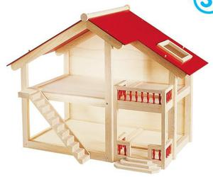 Pintoy woodlands dolls house and furniture