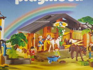 Playmobil horse and pony ranch  with box and