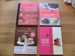 The Hummingbird large Bakery Hardback Cookbooks x 4 - In excellent condition